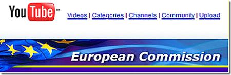 La Commission Européenne sur YouTube