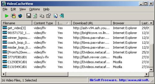 Extraire une video du cache de votre navigateur web windows